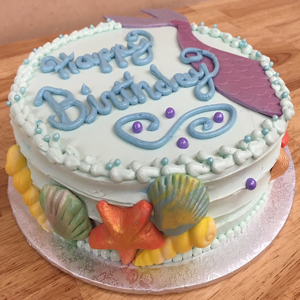 Cakes Cupcakes - Seashell Birthday Cake