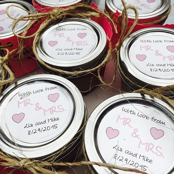 Wedding Favors - Butter In Jars