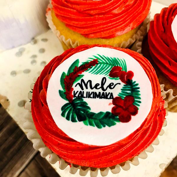 Mele Kalikimaka Cupcake